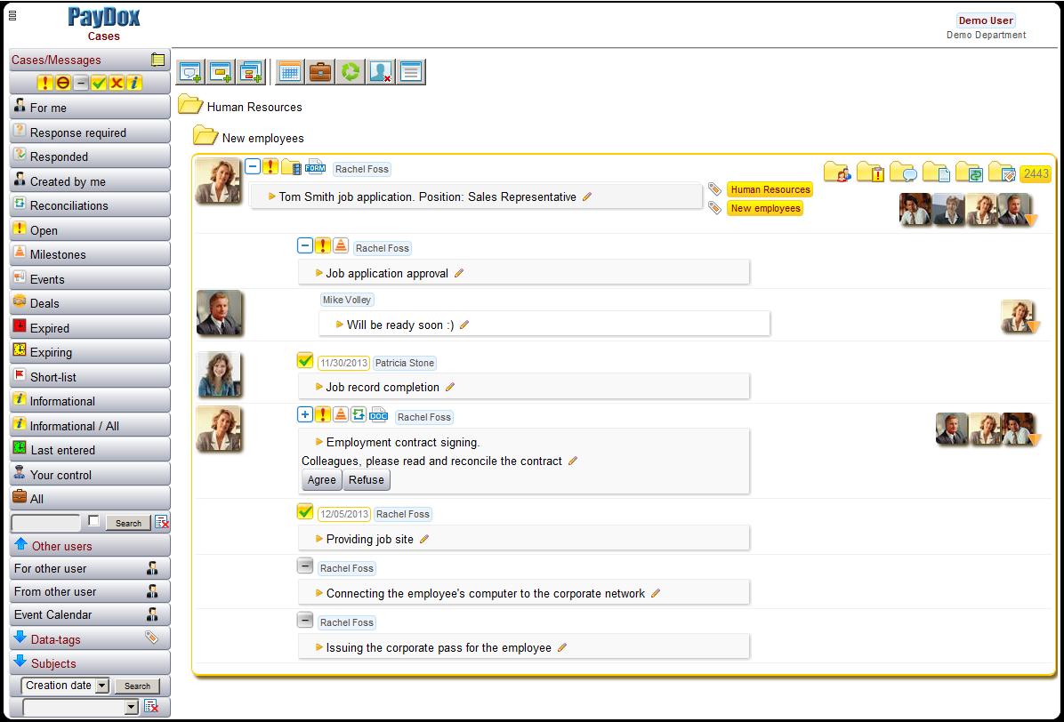 PayDox Adaptive Case & Task Management